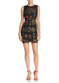 AQUA Embroidered Body-Con Dress - 100% Exclusive