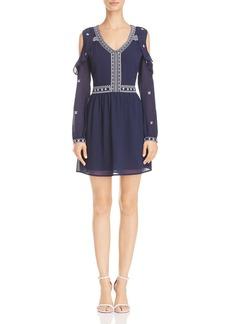 AQUA Embroidered Cold-Shoulder Dress - 100% Exclusive