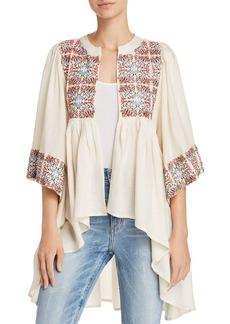 AQUA Embroidered High/Low Kimono - 100% Exclusive