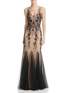 AQUA Embroidered Lace Gown - 100% Exclusive