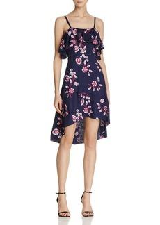 AQUA Embroidered Ruffle Dress - 100% Exclusive