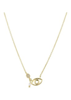 """AQUA Evil Eye Cluster Pendant Necklace in 18K Gold-Plated Sterling Silver, 16"""" - 100% Exclusive"""