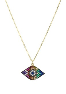 """AQUA Evil Eye Pendant Necklace in 18K Gold-Plated Sterling Silver, 16"""" - 100% Exclusive"""