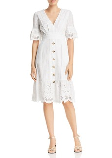 AQUA Eyelet Button-Front Dress - 100% Exclusive