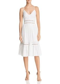 AQUA Eyelet Midi Dress - 100% Exclusive