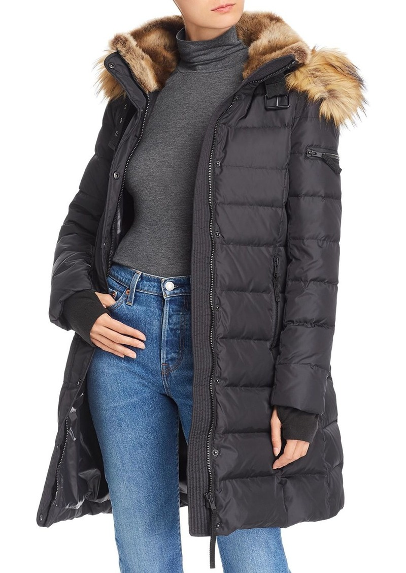 AQUA Faux Fur-Trim Hooded Puffer Coat - 100% Exclusive