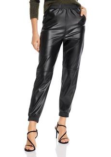 AQUA Faux Leather Jogger Pants - 100% Exclusive