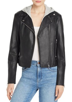 AQUA Faux-Leather Moto Jacket - 100% Exclusive