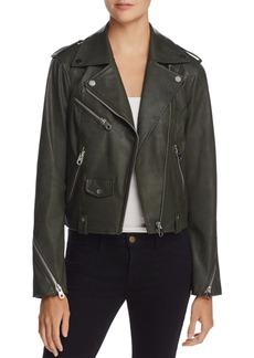 AQUA Faux Leather Moto Jacket - 100% Exclusive