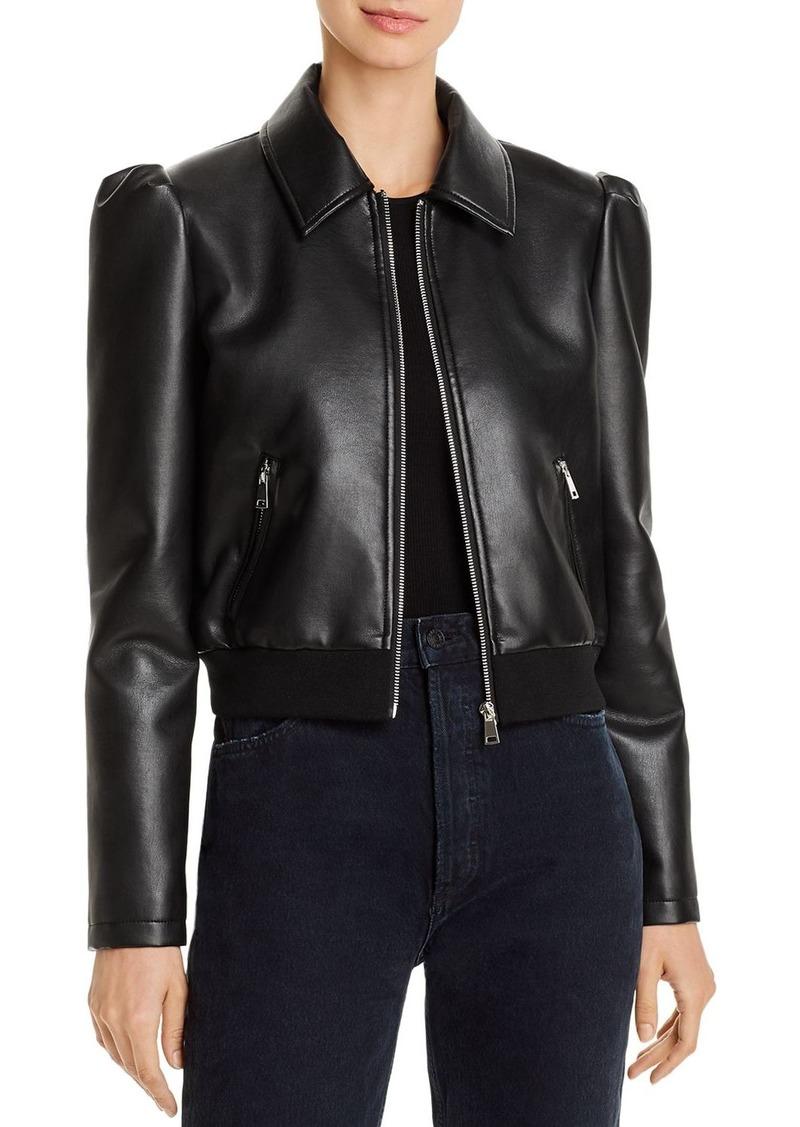 AQUA Faux-Leather Puff-Sleeve Jacket - 100% Exclusive