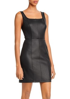 AQUA Faux Leather Sheath Dress - 100% Exclusive