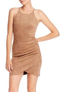 AQUA Faux Suede Body-Con Dress - 100% Exclusive