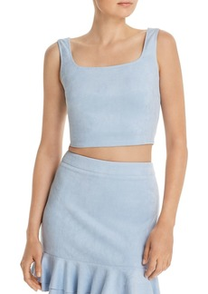 AQUA Faux Suede Cropped Top - 100% Exclusive