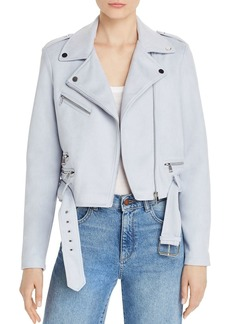 AQUA Faux-Suede Moto Jacket - 100% Exclusive