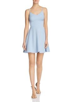AQUA Fit-and-Flare Mini Dress - 100% Exclusive