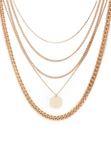 "AQUA Five-Layer Pendant Necklace, 17"" - 100% Exclusive"
