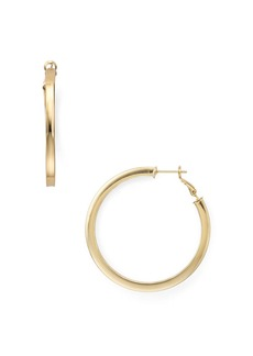 AQUA Flat Edge Hoop Earrings - 100% Exclusive
