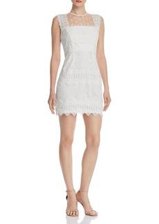 AQUA Flocked Lace-Trim Sheath Dress - 100% Exclusive