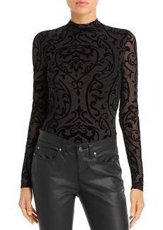 AQUA Flocked Mesh Bodysuit - 100% Exclusive