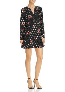AQUA Floral & Polka Dot Print Dress - 100% Exclusive