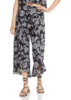 AQUA Floral Cutaway Wide-Leg Pants - 100% Exclusives