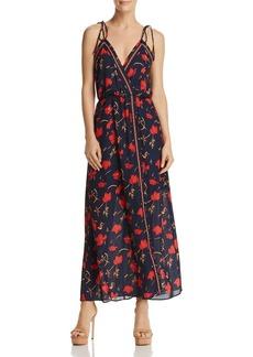 AQUA Floral Faux-Wrap Maxi Dress - 100% Exclusive