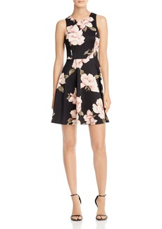 AQUA Floral High Neck Scuba Dress - 100% Exclusive
