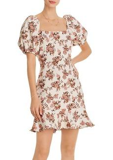 AQUA Floral-Jacquard Mini Dress - 100% Exclusive