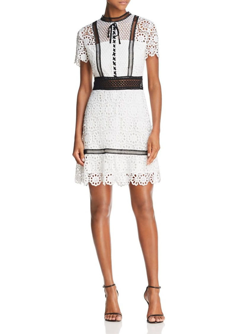 AQUA Floral Lace Dress - 100% Exclusive