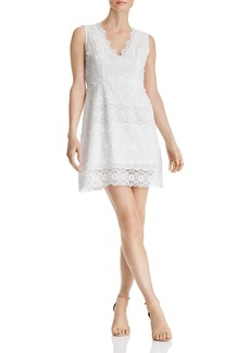 AQUA Floral Lace-Inset Dress - 100% Exclusive