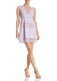 AQUA Floral Lace-Inset Dress - 100% Exclusive