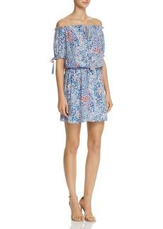 AQUA Floral Off-the-Shoulder Dress - 100% Exclusive