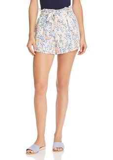 AQUA Floral Paperbag-Waist Shorts - 100% Exclusive