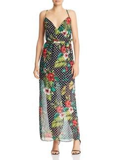 AQUA Floral Polka Dot Maxi Dress - 100% Exclusive