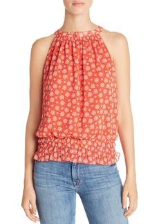 AQUA Floral Print Blouson Top - 100% Exclusive