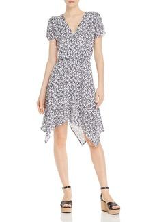 AQUA Floral-Print Handkerchief-Hem Dress - 100% Exclusive