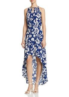 AQUA Floral Print High/Low Maxi Dress - 100% Exclusive