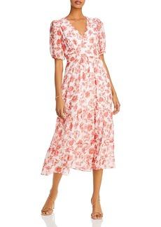 AQUA Floral Print Midi Dress - 100% Exclusive