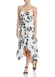 AQUA Floral-Print Midi Dress - 100% Exclusive
