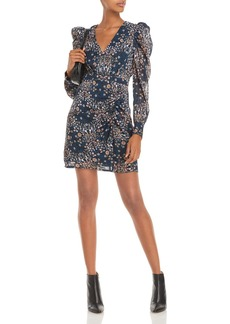 AQUA Floral Print Mini Dress ? 100% Exclusive