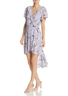 AQUA Floral Print Ruffle Dress - 100% Exclusive