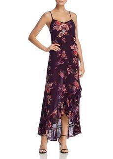 AQUA Floral Print Ruffle-Hem Maxi Dress - 100% Exclusive