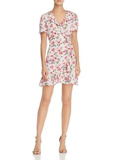 AQUA Floral Print Ruffled Wrap Dress - 100% Exclusive