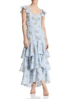 AQUA Floral-Print Tiered Maxi Dress - 100% Exclusive