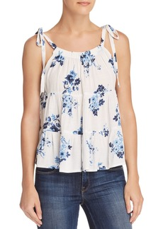 AQUA Floral Print Tiered Trapeze Top - 100% Exclusive