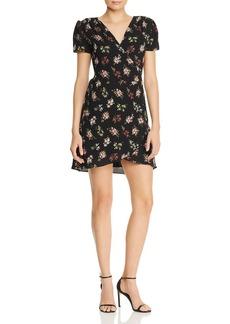 AQUA Floral Print Wrap Dress - 100% Exclusive