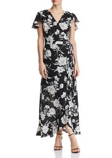 AQUA Floral-Print Wrap Maxi Dress - 100% Exclusive
