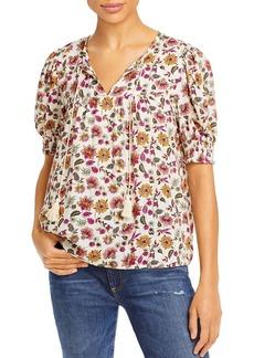 AQUA Floral Puff Sleeve Top - 100% Exclusive
