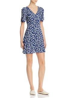 AQUA Floral Puffed-Sleeve Dress - 100% Exclusive