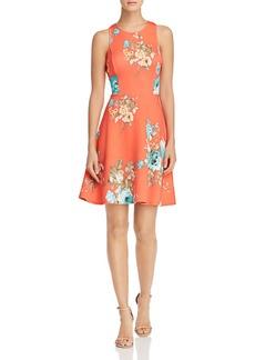 AQUA Floral Scuba Dress - 100% Exclusive